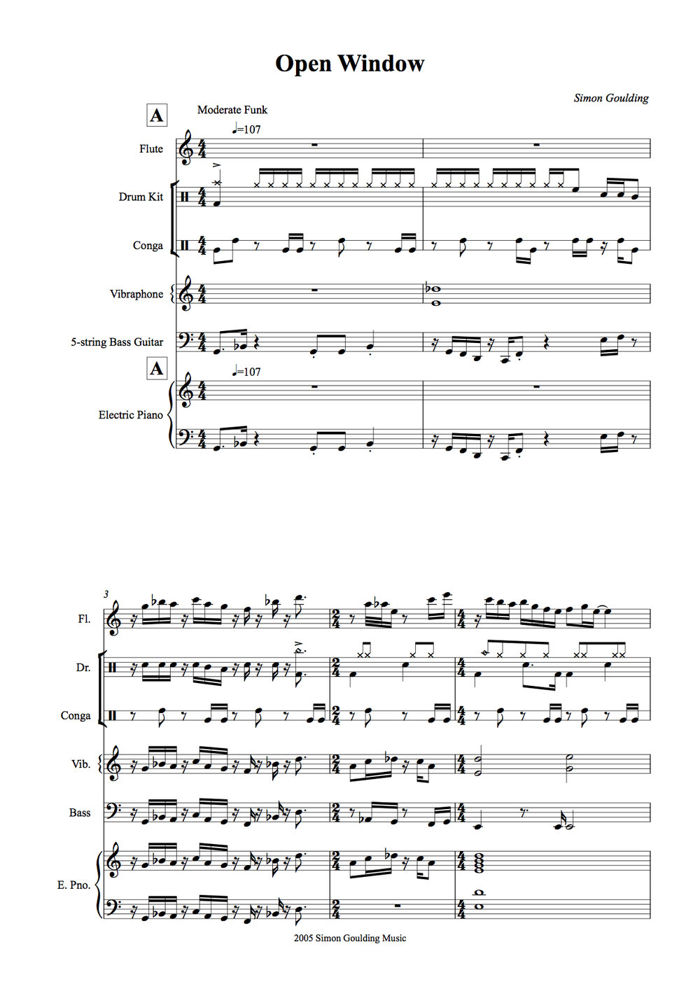 Open window concert score -