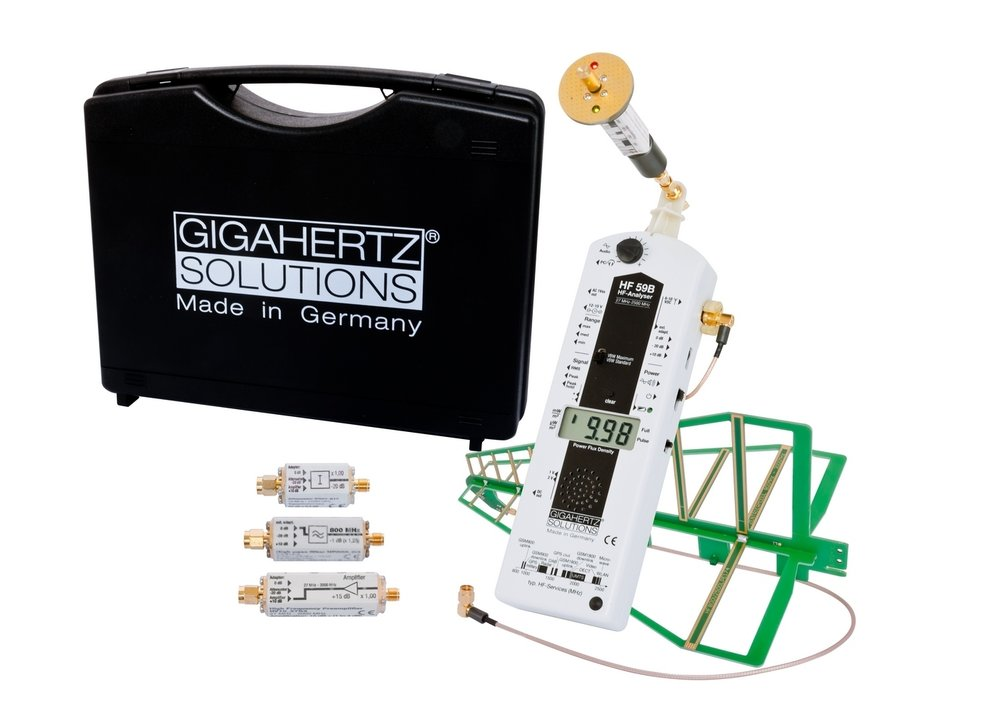 The Gigahertz Solutions HF 59B is the most accurate Radio Frequency Analyzer in the world. Amateur meters exaggerate data and often miss critical signals. Used for scientific and industrial purposes this instrument captures every signal with precision. Insist on the correct information.