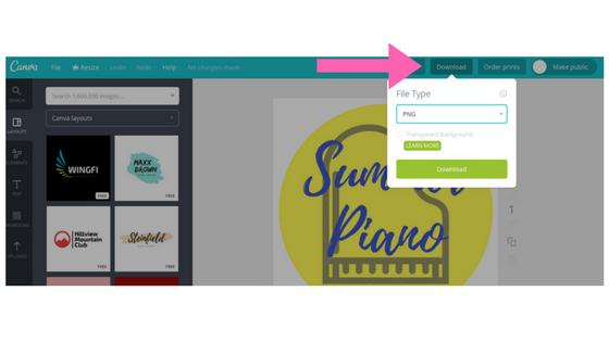 Canva Piano Website Graphic