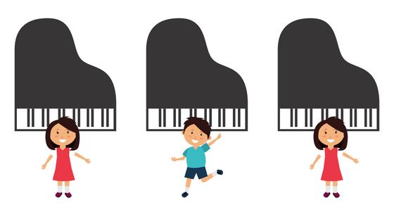 Kids group piano