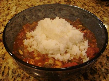 et voila - finished gumbo