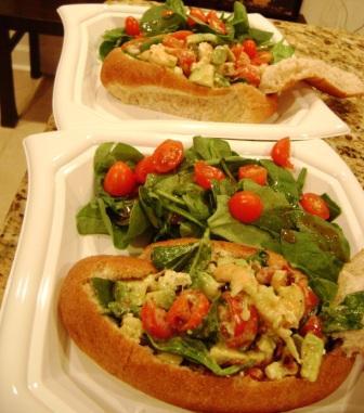Shrimp Cobb Salad Rolls