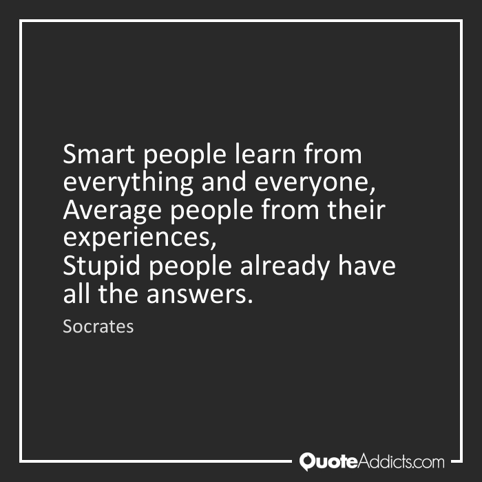 working with smart people