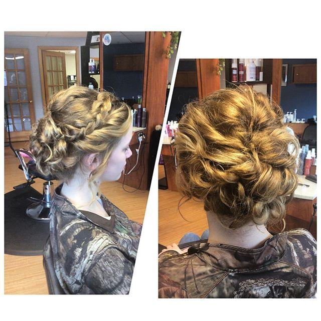 Elegant braided updo by Katie