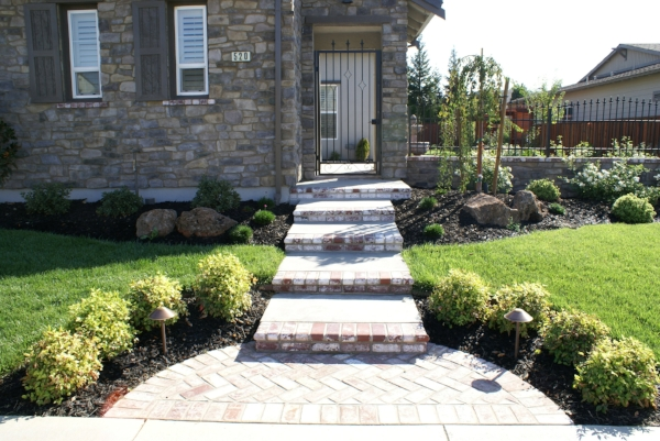 Hardscape -- concrete, brick and pavers