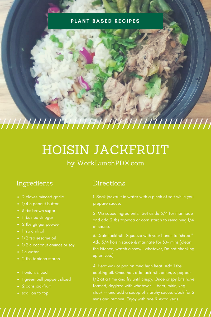 plant based hoisin jackfruit recipe