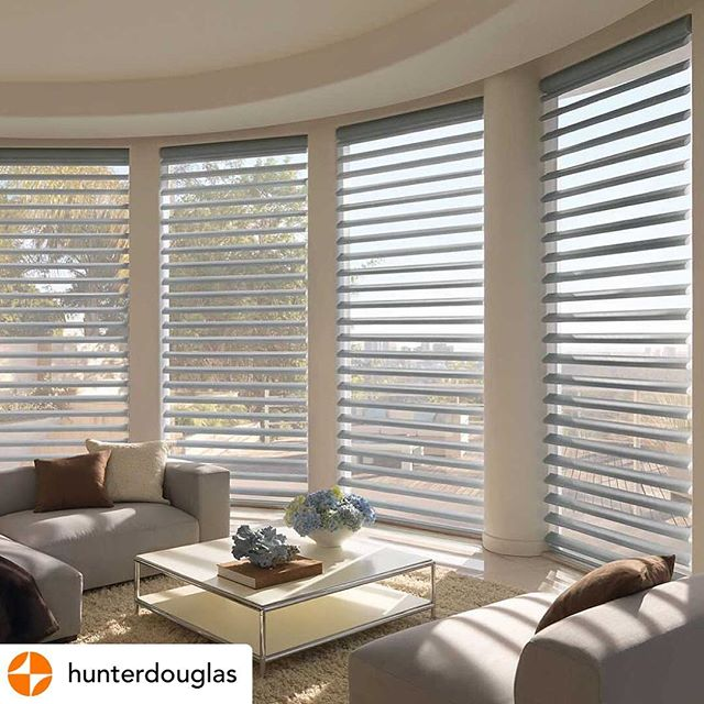 @hunterdouglas Letting the light in, while keeping UV rays out!  #HunterDouglas Pirouette Window Shadings block up to 81% of harmful UV rays with the vanes open, and 99% of UV rays with vanes closed - protecting your furniture, floors, and art from the sun's rays.