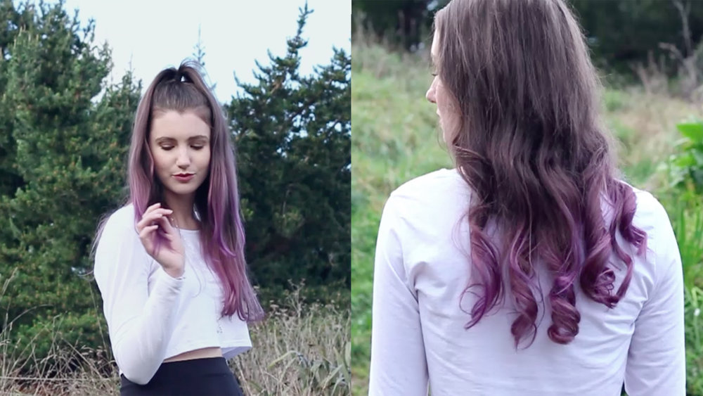 Purple Ombre Hair Diy Video Shop Style Conquer