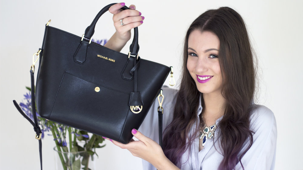 132ed5b58c52b So last week I bought my first ever designer handbag  a Michael Kors  Greenwich tote! I decided it was time to do an updated  what s in my bag  video  and ...