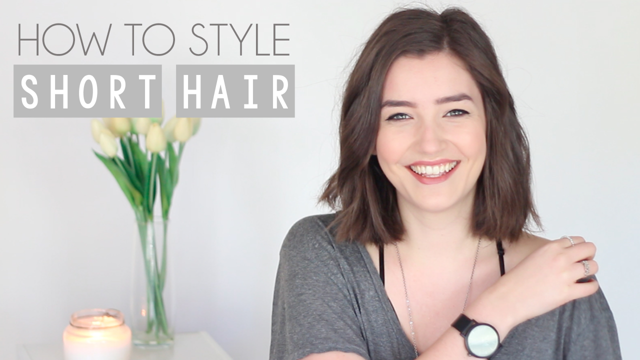 How To Style Short Hair Updated Everyday Hair Routine Video Shop Style Conquer