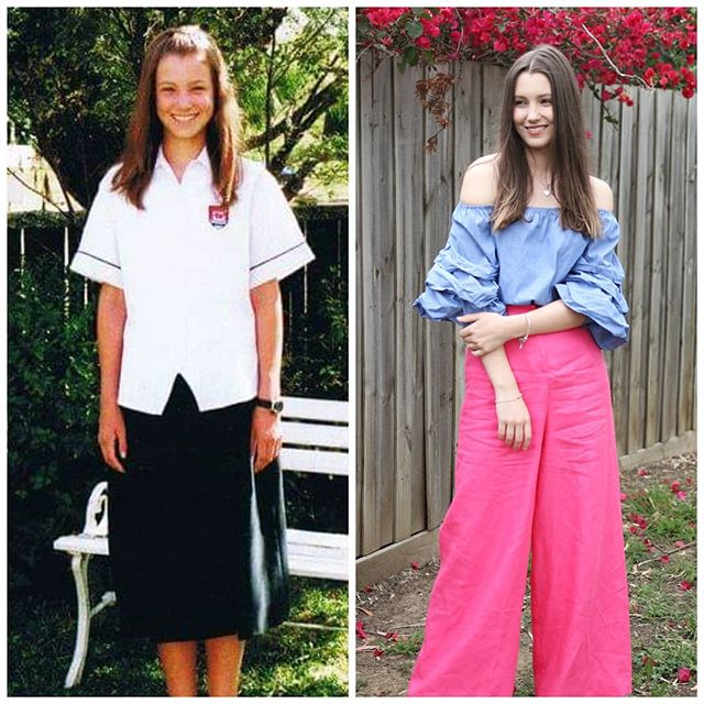 2009 vs 2019  Jumping on the #10yearchallange! What a throwback, Ellen was starting her first year of high school and Tara was finishing her final year 😂
