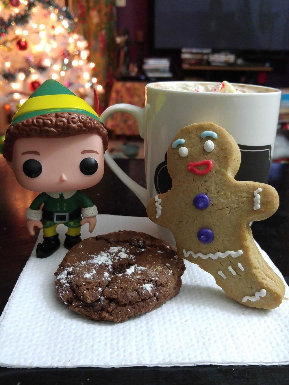 Brownie Cookie with Buddy & Gingie