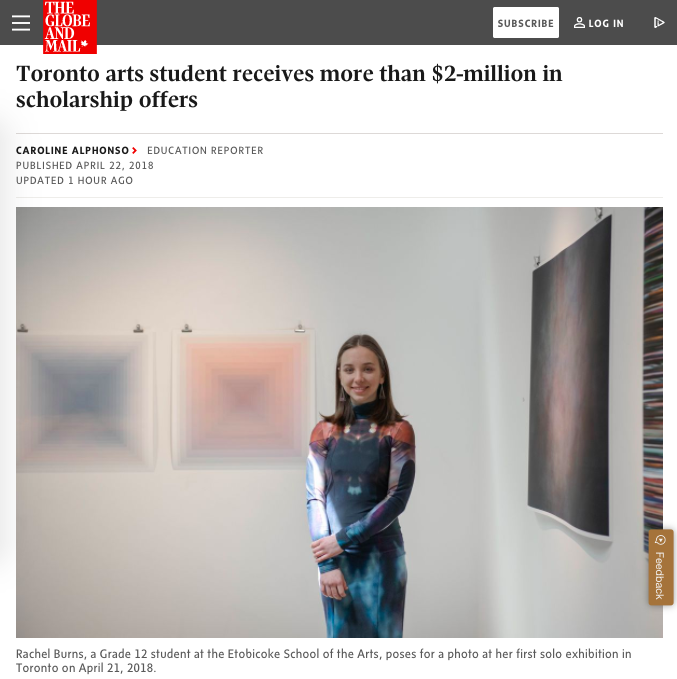 Featured story in the Globe and Mail   https://www.theglobeandmail.com/canada/article-toronto-arts-student-shatters-records-with-more-than-2-million-in/