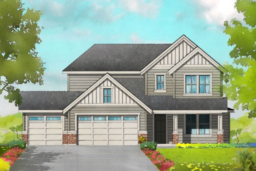 THE REGENT - 2 STORY | 4 BED | 2.5 BATH | 3 CAR | 3005 SF | DEN & LOFT