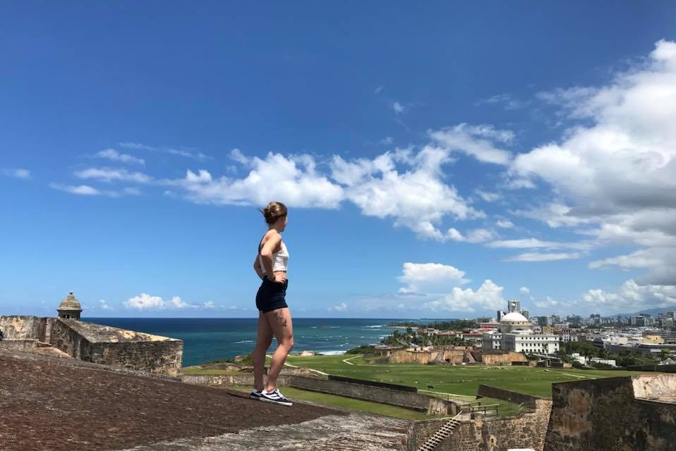 San Juan  Looking out over my favourite port.