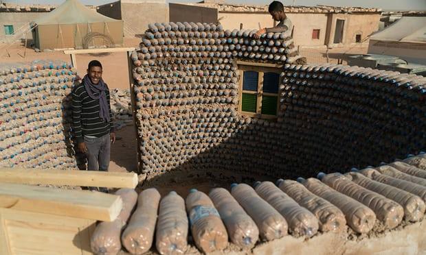 Plastic bottle houses -