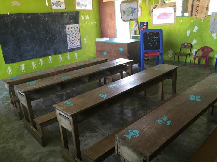 Pic: One of three Port Olry kindy classes AFTER renovation in 2016.