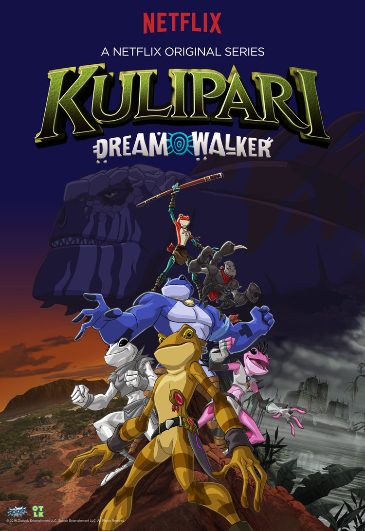 KULIPARI 2:DREAM WALKER - (IN PRODUCTION)In an epic tale of bravery and heroism, Kulipari: Dream Walker takes us deeper into the action-packed tale of an unconventional hero. After the destruction of the Amphibilands, this season continues the story in Nova Australis which is protected by an elite group of super-powerful Kulipari warriors with their poison-enhanced abilities lead by our hero, Darel, former wood frog and now The Blue Sky King.Here the Frogs, Lizards, Spiders, Platypuses and even Scorpions – are attempting to live in peace but threats from the Outback are causing increasing concern; bandits, rogue Scorpions, and even savage raiders from the dark city of Cardigal. When the evil and extremely powerful Lord Darkan of Cardigal captures a young Kulipari whose abilities are the stuff of legend, it is time for Darel to lead a rescue mission – leaving Nova Australis in the care of young, inexperienced Kulipari who must quickly learn to be the heroes they were meant to be.Year 2018Duration 13 x 26 minsProduction Partners Telegael, The Outlook Company, Splash EntertainmentGenre Action / Adventure for 6-12. A Netflix Original Series