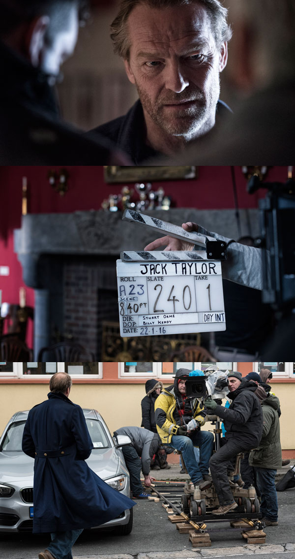 JACK TAYLOR - Jack Taylor is an Irish television drama based on the Ken Bruen novel series. Set in Galway, the program features Iain Glen in the eponymous role of Jack Taylor, a former officer with the Garda Síochána (national police) who becomes a