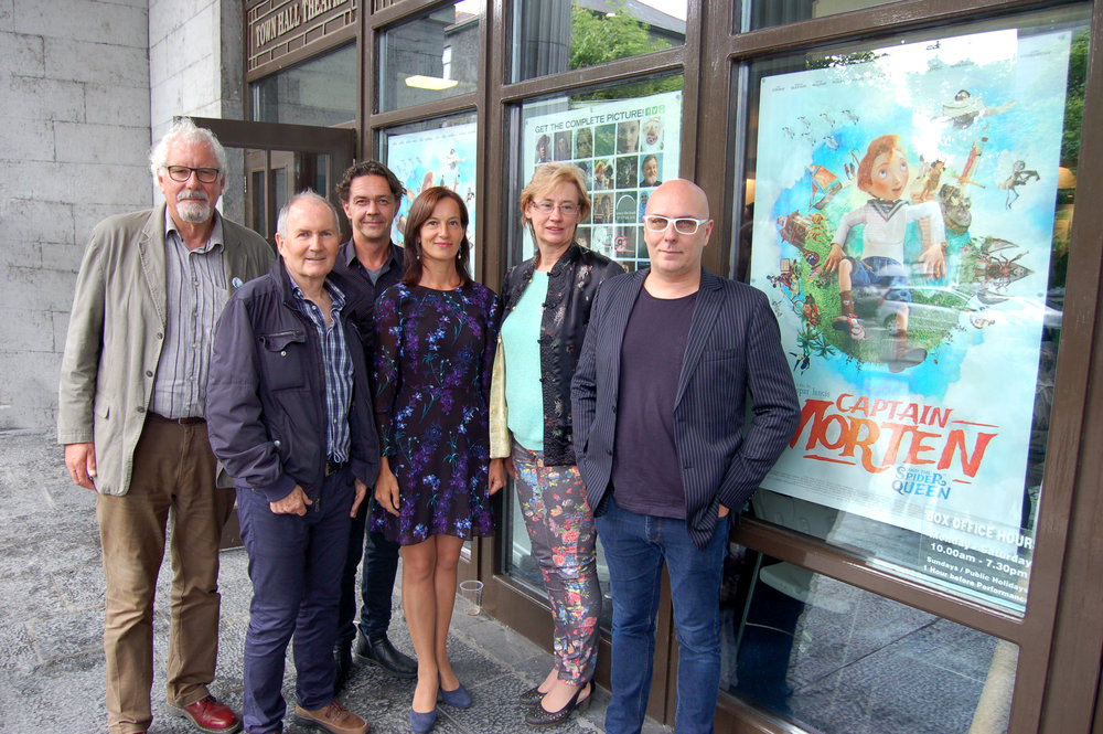 Captain Morten and the Spider Queen Producers and the Estonian Ambassador Kristi Karelsohn, pictured at the 2018 Galway Film Fleadh.    From left to right: Robin Lyons (UK), Paul Cummins (Ireland), Andres Mänd (Estonia), Estonian Ambassador in Ireland Kristi Karelsohn, Kerdi Oengo, (Estonia) & Mark Mertens (Belgium.) Photo Billy Keady
