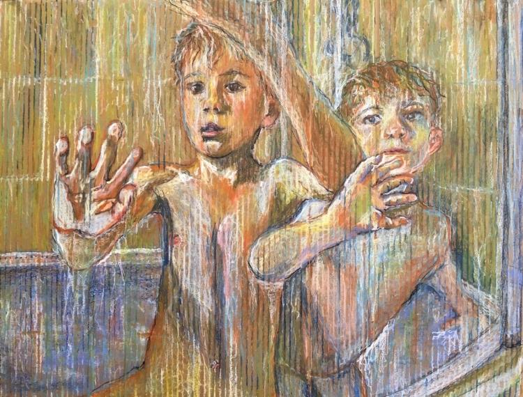 Alice Parsloe Art The Shower Door.JPG