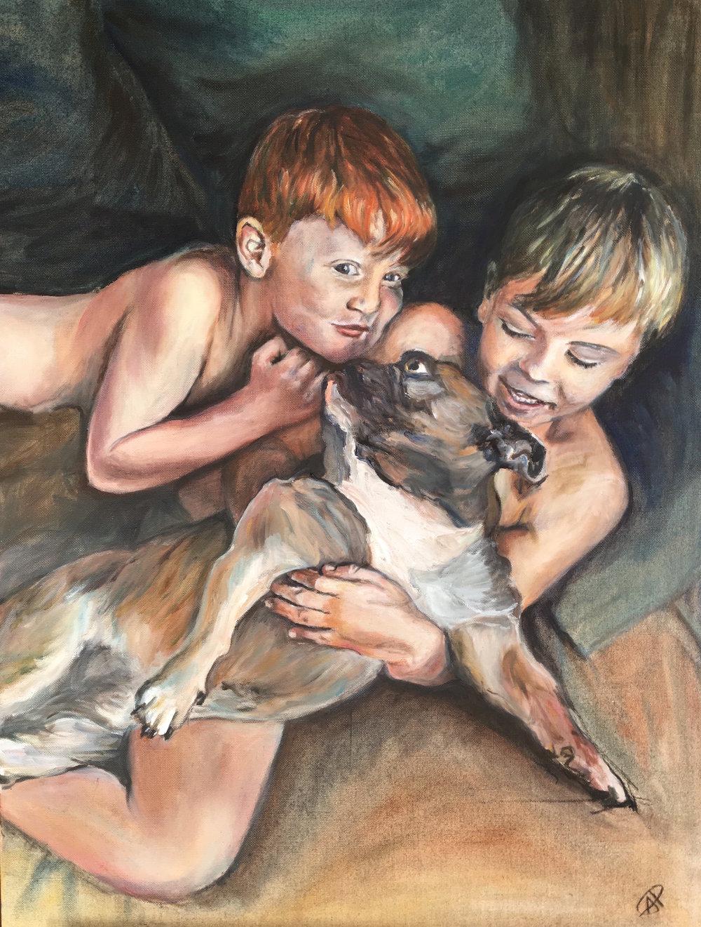 Barker boys and Buddy by Alice Parsloe.jpg