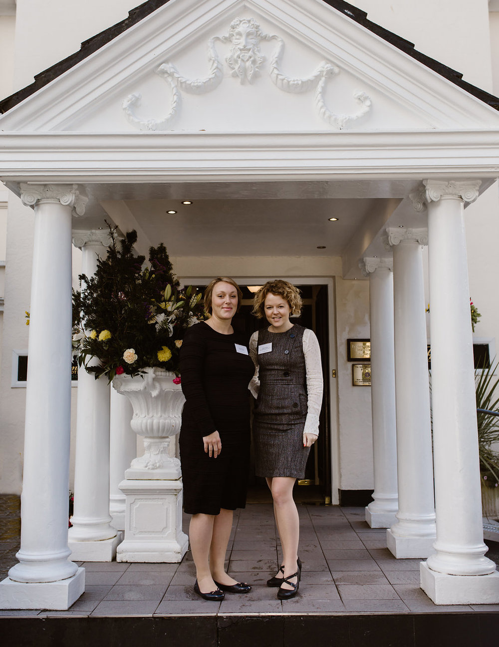 Hazel Parsons & Jenny Wren organisers of Cornwall Wed Meetup at The Penventon Park Hotel - Nov 16 - Image Echanted Brides.jpg