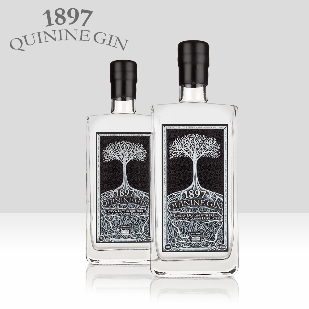 1897   Proudly supporting the work of Malaria No More UK this London Dry Gin is made using cinchona bark (from which Quinine comes) and is regularly recognised in global competitions. A delicious twist on a classic gin style.