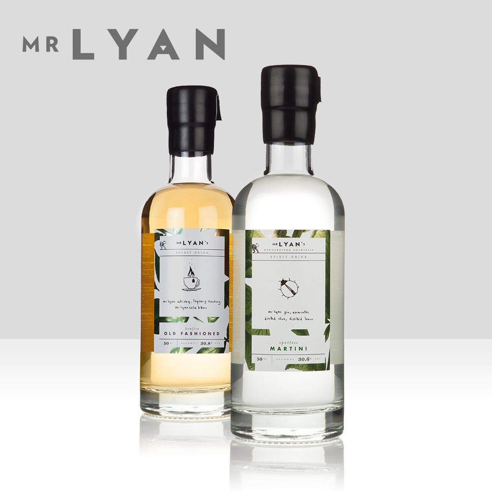 Mr Lyan   Atom collaborations with Mr Lyan (Ryan Chetiyawardana), world-renowned booze and cocktail guru, include premix cocktails such as Bonfire Old Fashioned and the delicious Cream Gin