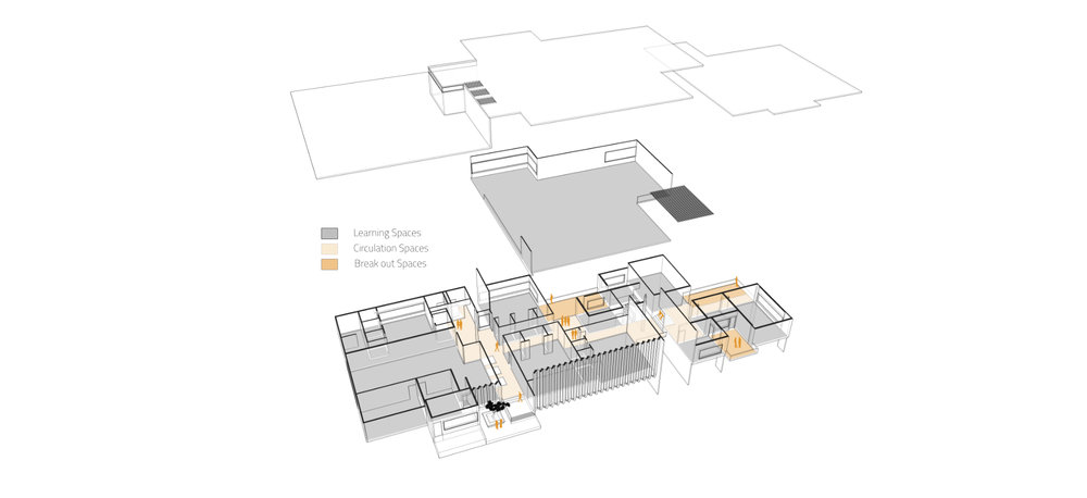 Exploded axonometric view