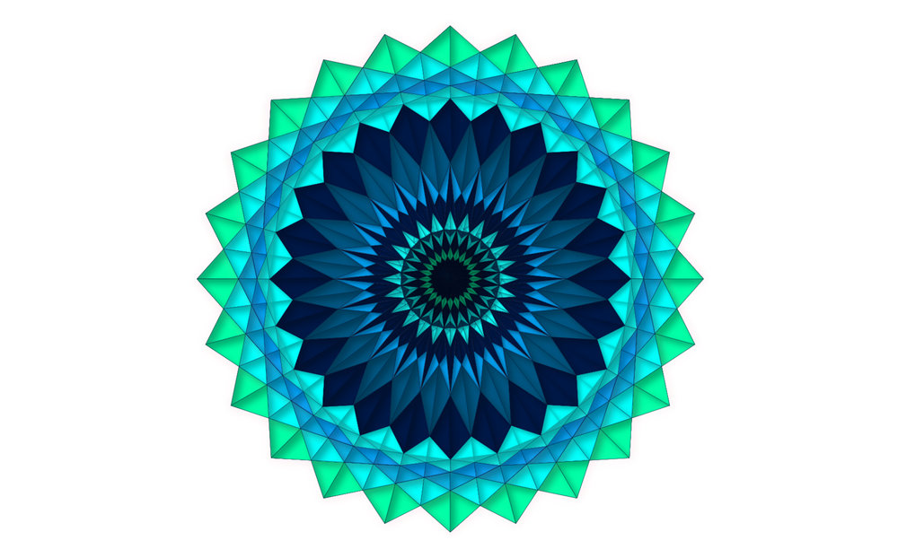 Vector art exploring   symmetry and color, Adobe Illustrator