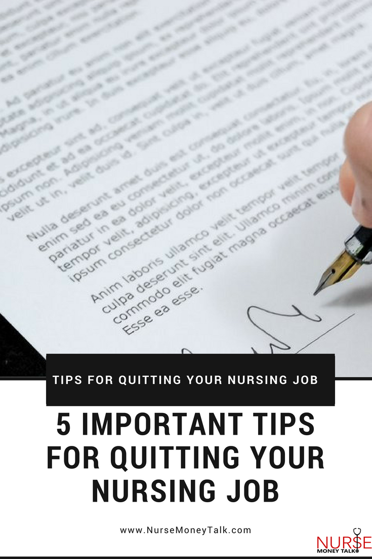 """5 Important Tips For Quitting Your Nursing Job""  Photo from Pexels.com"
