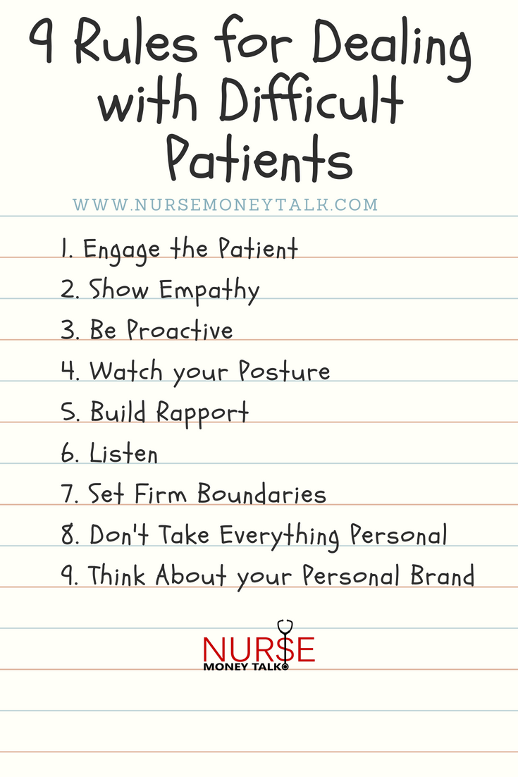 The 9 Rules for Dealing with Difficult Patients