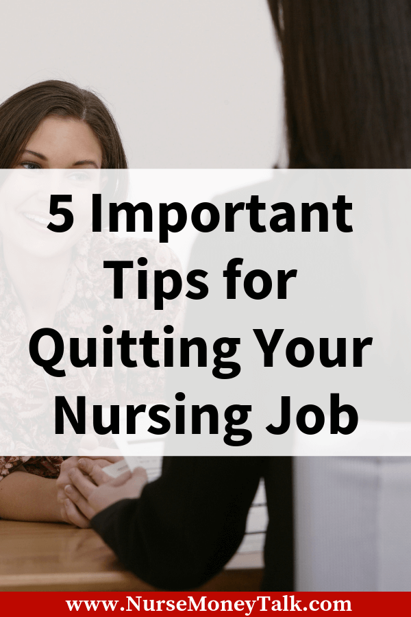 This article is going to give you tips and advice to resign from your nursing job the right way. #nursing #nursingcareer