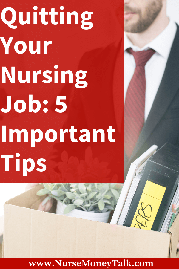 Learn how to quit a nursing job you just started. You need to make sure you do it the right way! #nursing #nursingcareer