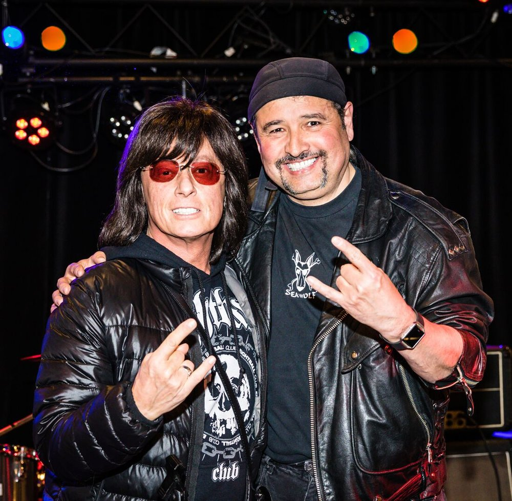 Tom Collier of Held Hostage and special guest vocalist Joe Lynn Turner