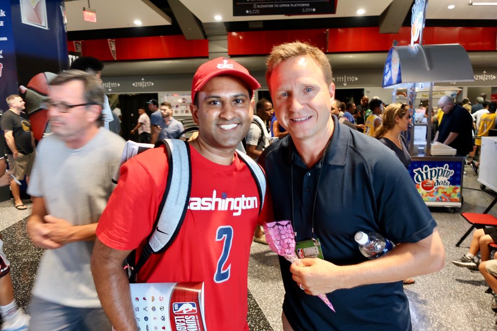 Posing with Scott Brooks