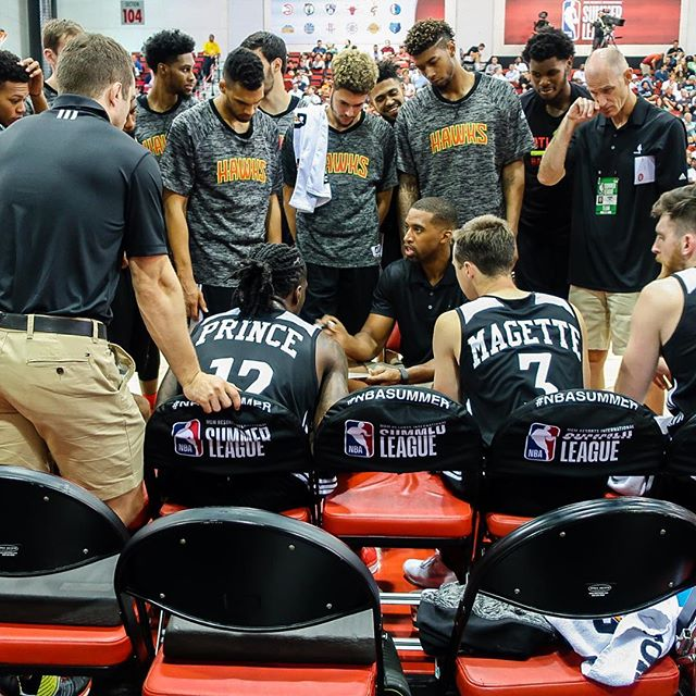 One of the best NBA experiences was going to NBA Las Vegas Summer League 2017.  Watching games at Cox Pavilion is like going to a high school game.  At times, I felt like I was in the team huddle!  #nba #nbasummerleague #lasvegas #atlantahawks