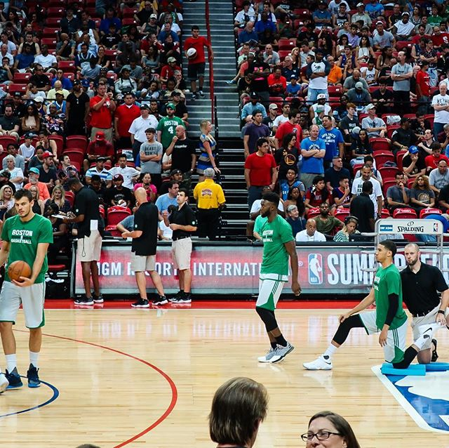 Jaylen Brown and Jayson Tatum stretching before a game at NBA Las  Vegas Summer League 2017.  Watching Tatum in person, it was obvious he had star potential.  He played with a maturity and poise beyond his years. Always great to see a fellow Dukie succeed in the NBA!  #nba #nbasummerleague #jaysontatum #jaylenbrown #bostonceltics #lasvegas