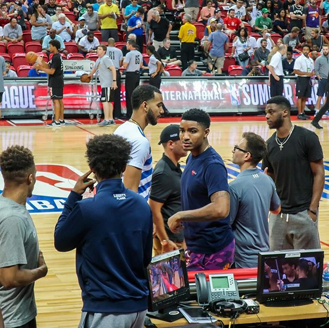 The young Nuggets, including Gary Harris, came out in force to support the team during NBA Las Vegas Summer League 2017.  They had a strong finish to this season.  Hoping that they can keep the momentum going.  #nba #nbasummerleague #garyharris #denvernuggets #lasvegas