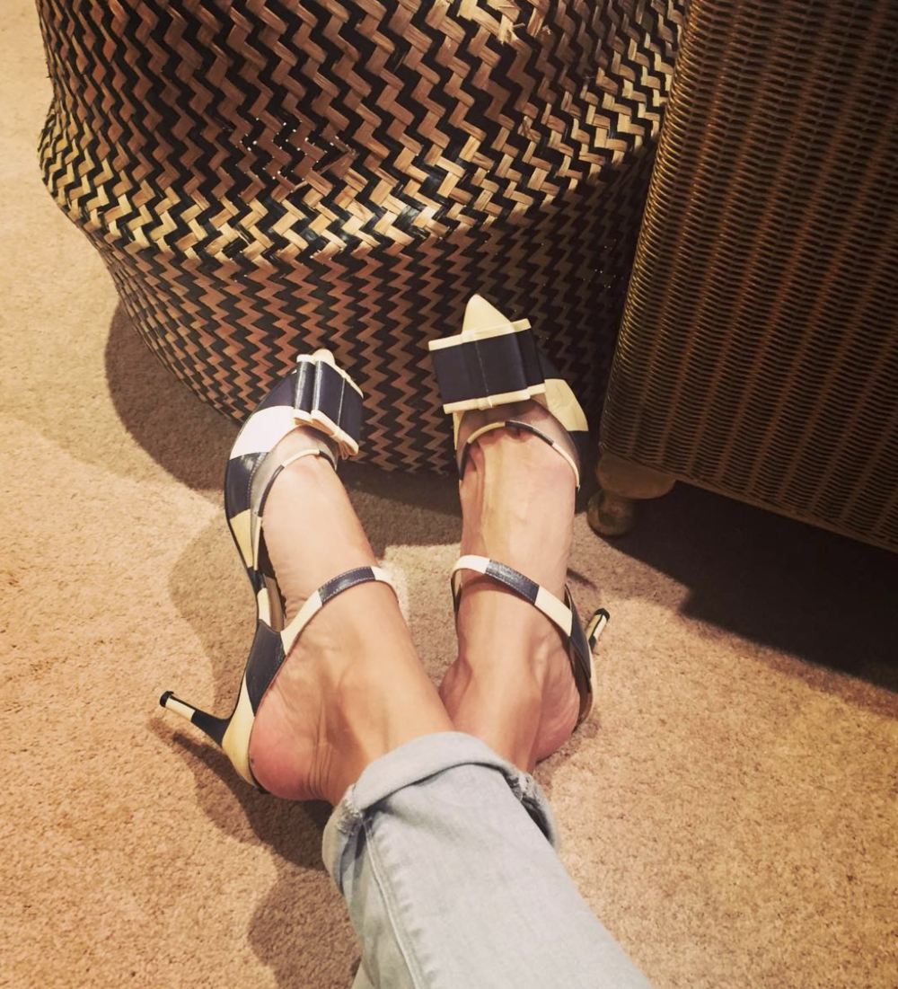 @ fleurice   Time for these to get an outing.  #biondacastana   #shoes   #happyfeet  #dinnertime