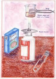 Organic Chemistry thematic lesson book illustration