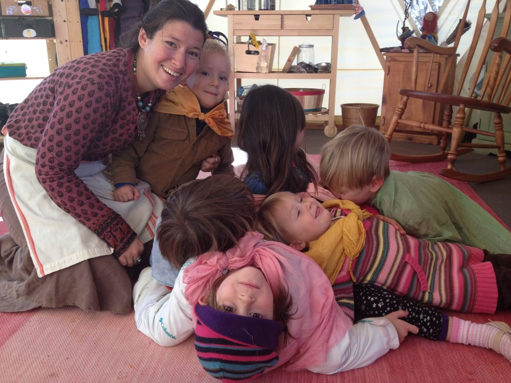 Our Kinderforest teachers provide the open space, time and patience for play
