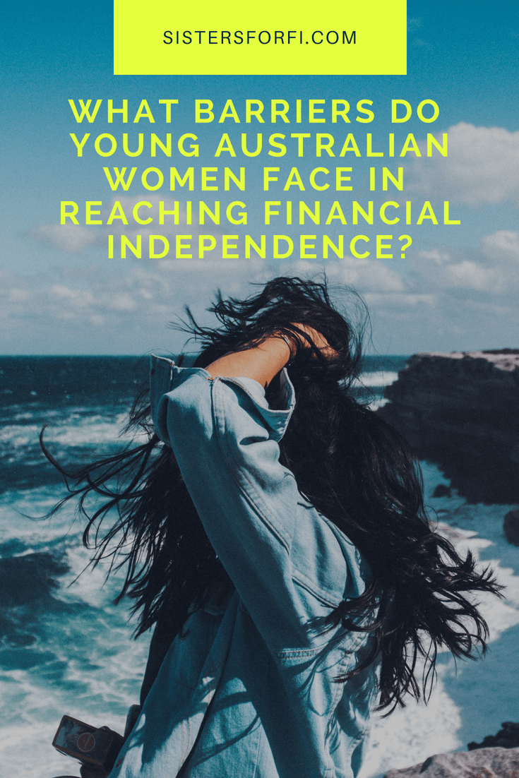 What barriers do young Australian women face in reaching financial independence?