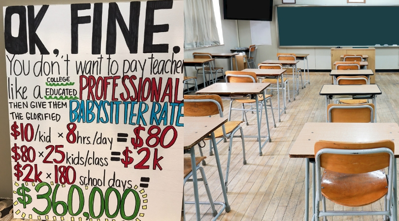 Post Roundup: Money Advice for Teachers and Educators. If teachers were paid professional babysitter rate, it would be a whole other story.