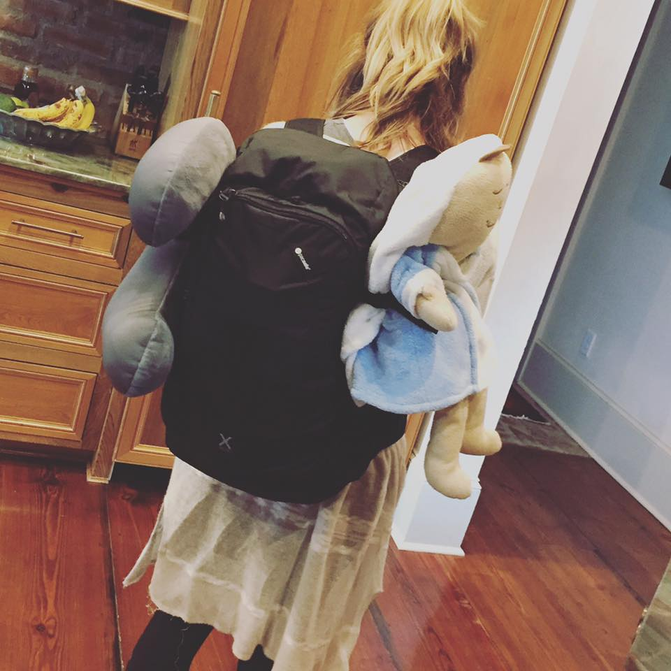 Traveling Abroad - Claudia is ready for her big adventure as she embarks on a semester in Barcelona, Spain! ... backpack, headrest and Mary pillow doll in tow! Bringing a little comfort, sweet hugs and love while she will be away from home!