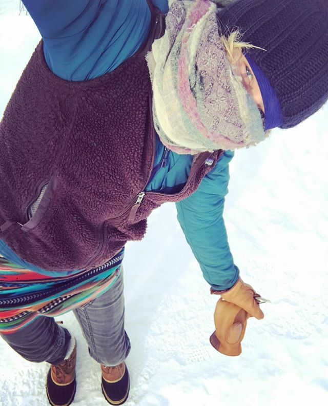 Photo of a true FunHog right here ladies and gentleman....It's -50 degrees in the Midwest, and this rockstar is still FunHoggin!  You go girl!! @tessmcenroe #funhoggin #skiingskirt #funhogginfleecewear #coldAF #fleeceskirt #fleececlothing #handmade #handmadeskirts #madeinidaho #madeinmccall