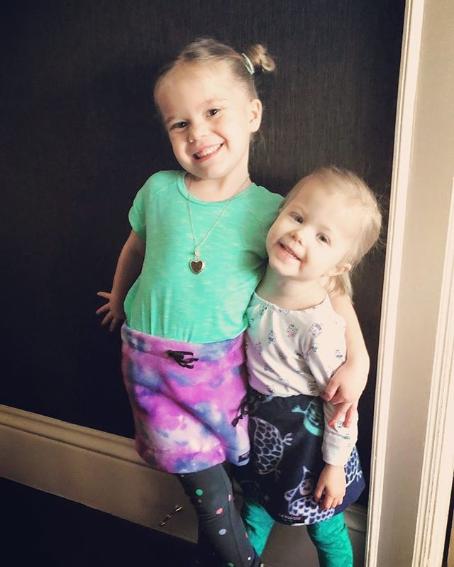 How cute are my nieces Fynn and Dylan?!? Thank goodness for FunHoggin' Fleece keeping these two warm and cozy during the Arctic Freeze hitting the Midwest right now!  You can find kid skirts for sale on my Etsy site!! @rileypfeiffer2 #funhoggin #fleececlothing #funhogginfleecewear #handmade #handmadeskirts #kidskirt #madeinidaho #madeinmccall #madewithlove