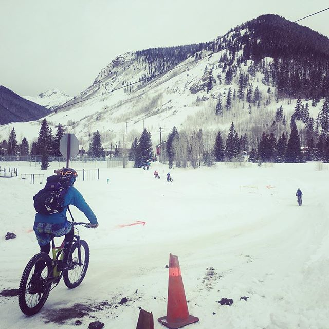 Biking in FunHoggin' Shorts at at the Whiteout Fat Bike Race In Silverton this weekend!!! FunHoggin' shorts are the perfect layer for all sorts of winter fun!! Stoked to be bringing back men's and women's shorts Early April....Just in time for spring skiing and spring boating!! #funhoggin #funhogginfleecewear #madeinidaho #madeinmccall #madewithlove #perfectwillhavetodo #fleeceshorts #fleececlothing pc @teresajenn