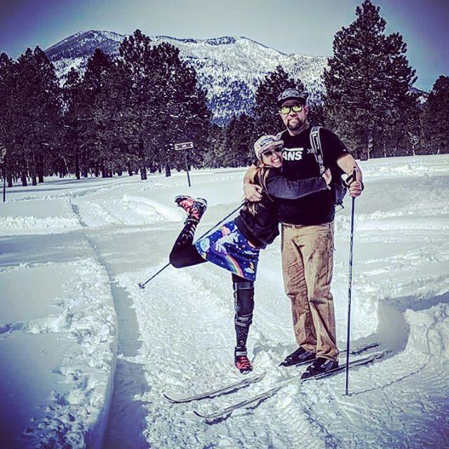 Flagstaff FunHogs getting Nordical after 65 inches of snow in Northern Arizona last week! Best storm yet!! @kennethm.gouff #funhoggin #funhogginfleecewear #fleeceskirt #skiingskirt #raftingskirt #unicornpower #unicornskirt #handmade #madeinmccall #madeinidaho